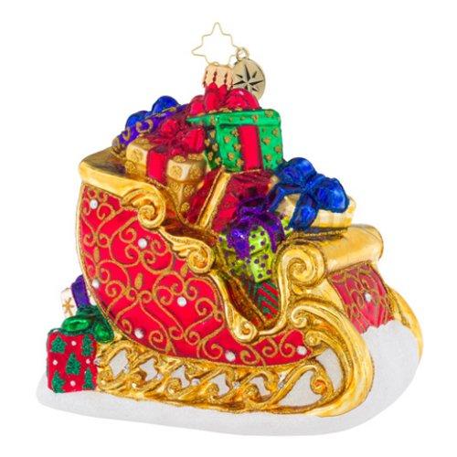 Christopher Radko Sleighful of Love Sleighs Christmas Ornament