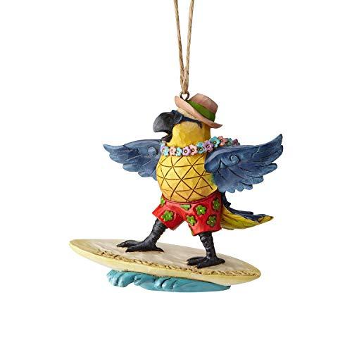 Enesco Margaritaville by Jim Shore Parrot Surfing Hanging Ornament, 3.6″, Multicolor