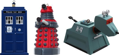 4.5″ Doctor Who Blow Mold Assorted Ornaments – 3 Pack