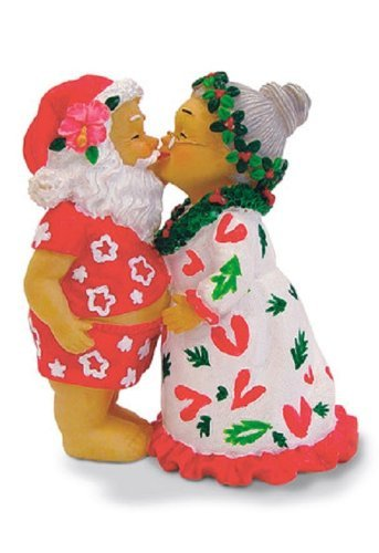 Island Heritage Kissing Santa Ornament by Island Heritage