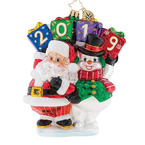 Christopher Radko Best Friends Forever 2019 Dated Christmas Ornament