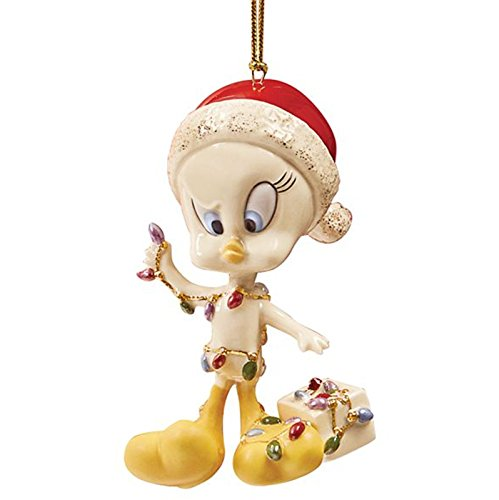 Lenox Tweety All Tangled Up Ornament Figurine Bird Looney Tunes Christmas