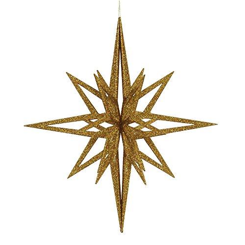 Vickerman 24″ Gold Iridescent 3D Glitter Star