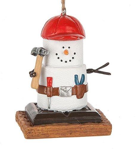 S'mores Original Carpenter Snowman Ornament