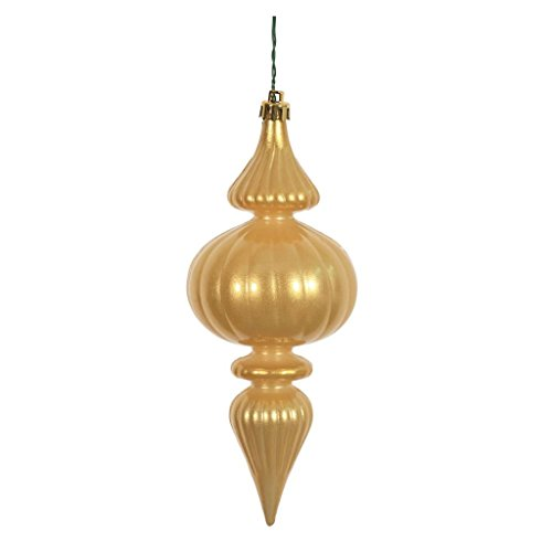 Vickerman 388129 – 7″ Gold Candy Finial Christmas Tree Ornament (6 pack) (N152108DCV)