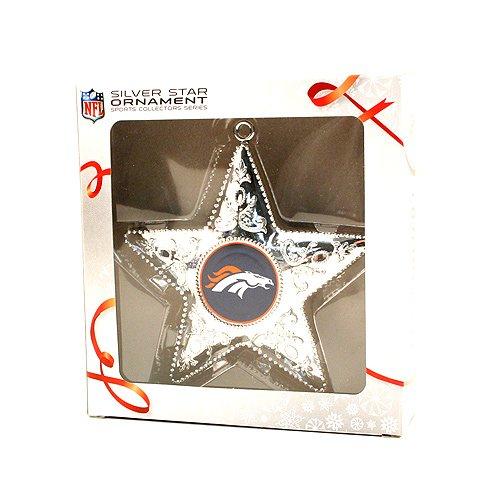Topperscot Denver Broncos Silver Star Ornament