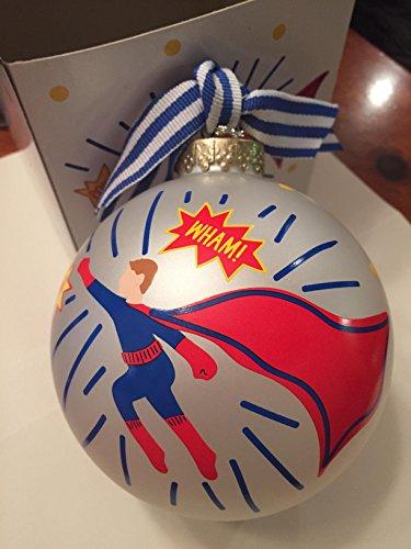 Coton Colors 100 MM Superhero Boy Glass Ornament