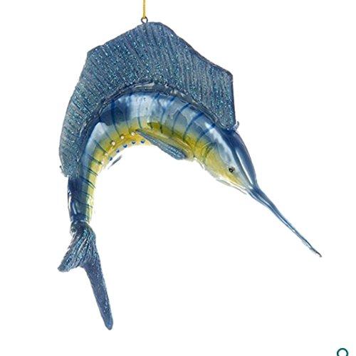 Kurt Adler 6In Noble Gems Glass Swordfish Ornament