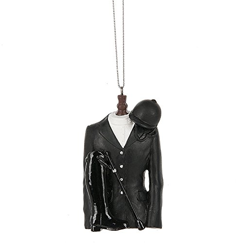 Midwest CBK English Riding Jacket Black Resin Christmas Ornament