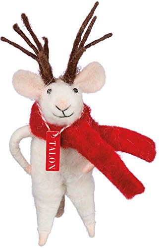 Reindeer Mouse 4″ Primitives by Kathy Holiday Decor Ornament or Village Figure
