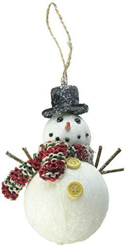 Department 56 Christmas Basics Winter Snowman Hanging Ornament, 4.75″, Multicolor