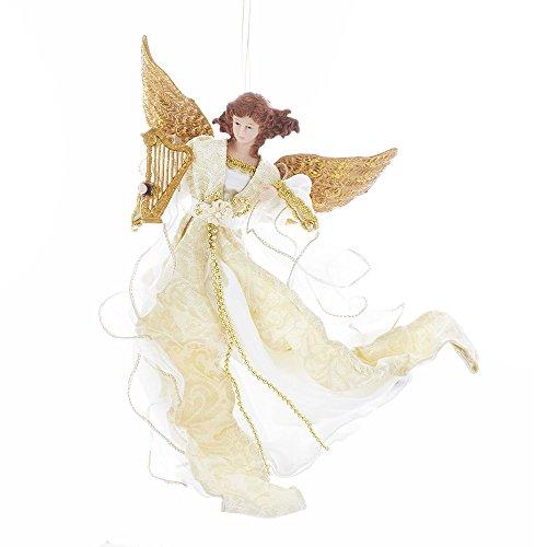 Kurt Adler Kurt S. Adler 12-Inch Ivory and Gold Flying Angel Ornament