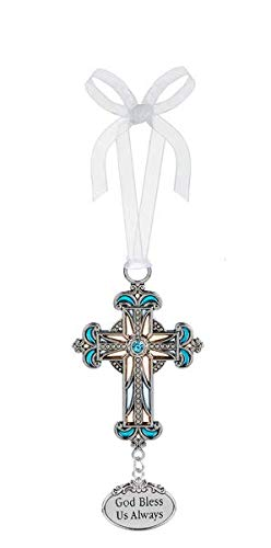 Ganz Cross Ornament God Bless Us Always