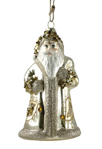 Party Explosions Santa Claus Glitter Glass Hanging Ornament