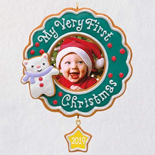 Hallmark Keepsake Ornament 2019 Year Dated My Very My Very First Christmas Baby Photo Frame,