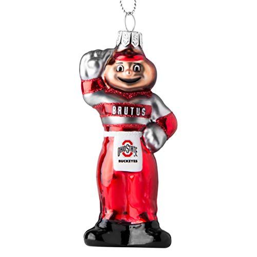Topperscot Ohio State Buckeyes Official NCAA Mascot Holiday Christmas Blown Glass Ornament 864402