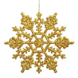 Vickerman Glitter Snowflake, 4-Inch, Antique Gold, 24 Per Box