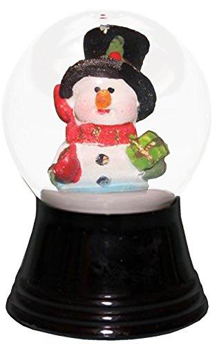 Alexander Taron Importer PR1280 Perzy Snowglobe, Small Snowman with Scarf-2.5″ H W x 1.5″ D, 2.75″ x 1.5″ x 1.5″ Black