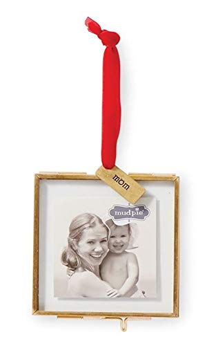 Mom Pressed Glass Photo Frame Ornament