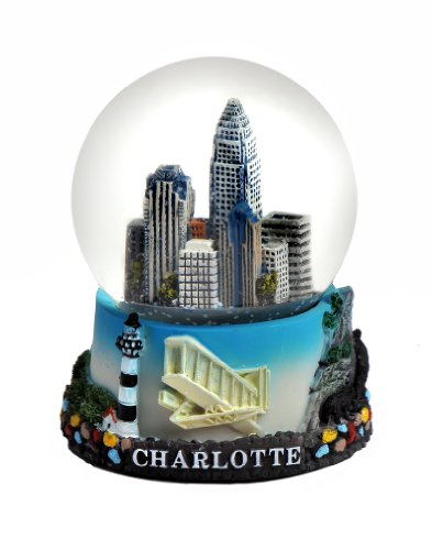 Charlotte North Carolina Color Snow Globe 65mm