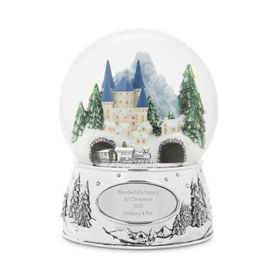 Things Remembered Personalized Winter Wonderland Express Musical Snow Globe with Engraving Included