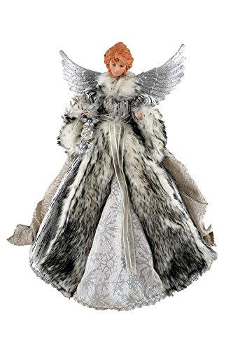 Santa's Workshop 3048 Siberian Snow Angel Treetopper Figurine, 16″, Multi