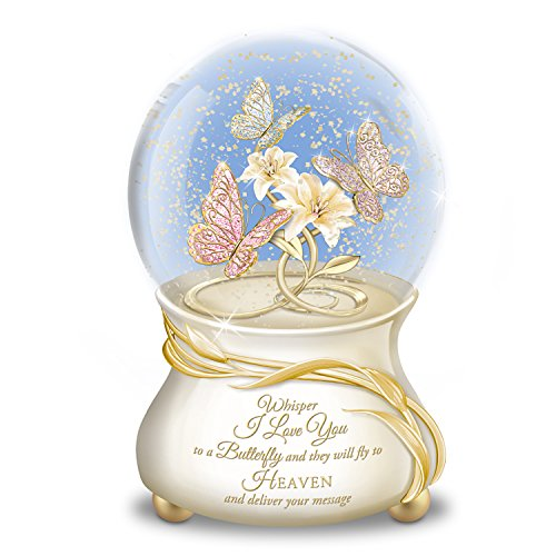 Butterfly Musical Glitter Globe With 22K Gold Lettering Plays Always In My Heart by The Bradford Exchange