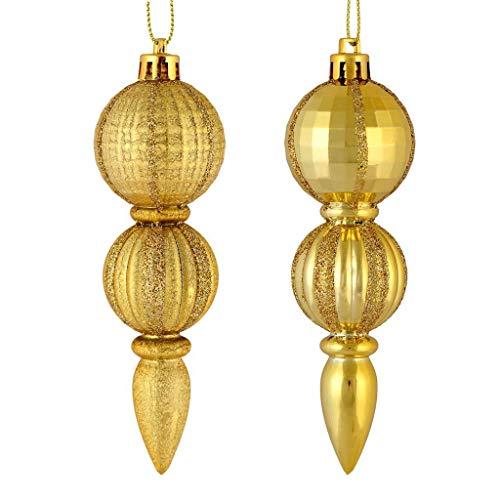 Vickerman 544327-5″ Gold Glitter/Matte Finial Christmas Tree Ornament (set of 6) (M183608)