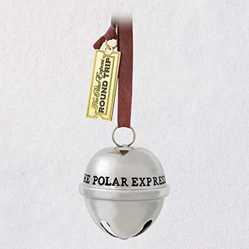 Hallmark Keepsake Christmas Ornament 2019 Year Dated The The Polar Express Santa's Sleigh Bell, Metal,