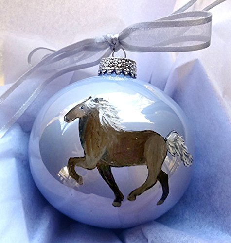 Icelandic Horse Pony Hand Painted Christmas Ornament – Can Be Personalized with Name