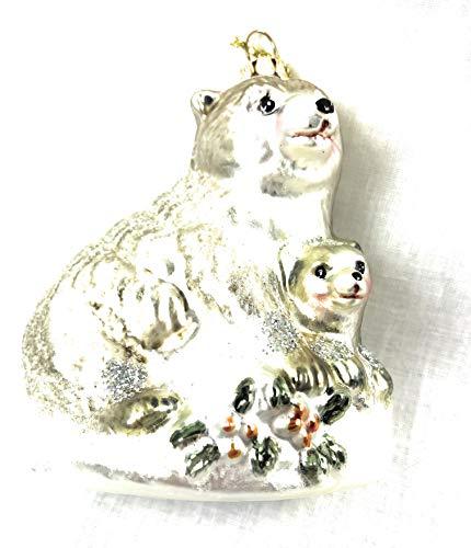 One Hundred 80 Degrees Snowy Woodland Animal Asst. Ornament (Bear)