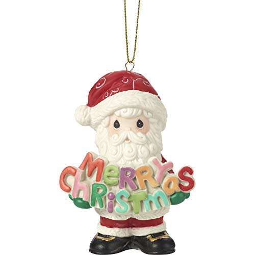 Precious Moments Merry Christmas to All 11th Annual Santa Bisque Porcelain 191020 Ornament, One Size, Multi