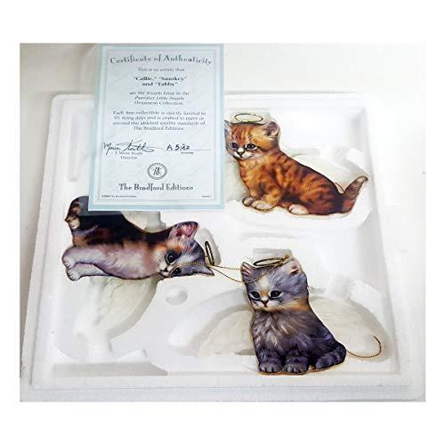 Bradford Exchange Purr-FECT Little Angel Cat Ornaments by Jurgen Scholz 68494