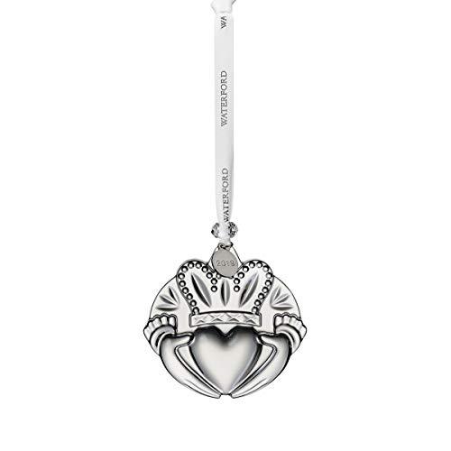 Waterford Crystal Claddagh Ornament 3″