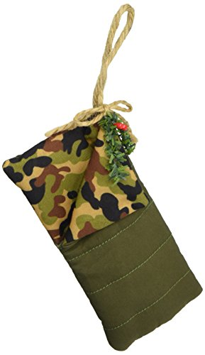 Department 56 Forest Favorites Camo Sleeping Bag Hanging Ornament