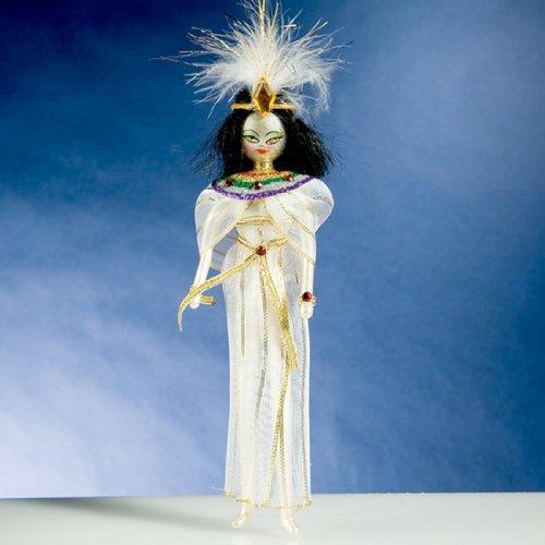 De Carlini Cleopatra Italian Mouthblown Glass Christmas Ornament