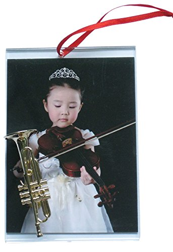 Music Treasures Co. Picture Frame Ornament with Trumpet
