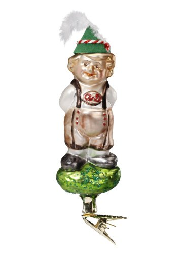 Inge-Glas Bavaria Tirolian Tot 1-091-13 German Blown Glass Christmas Ornament