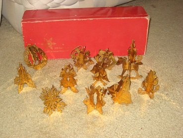 24 Karat Gold Danbury Mint Christmas Ornaments