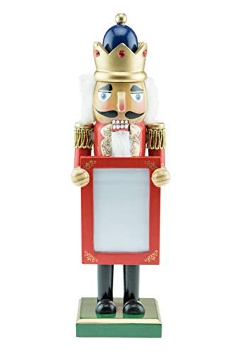 Clever Creations Wooden Nutcracker Picture Frame – Fits 3.25 inch x 2.5 inch Picture – Traditional Festive Christmas Decor – 10 inches Tall – Perfect Holiday Decoration for Shelves and Tables