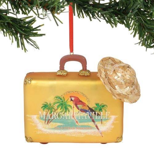 Department 56 Margaritaville Suitcase, 3.625″ Hanging Ornament, Multicolor