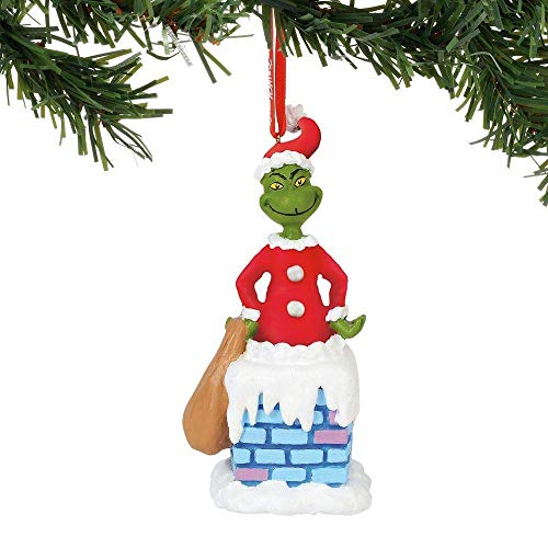 Department 56 Grinch into The Chimney Musical, 4.5″. Hanging Ornament, Multicolor