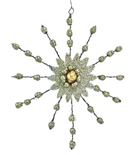 Bethany Lowe Vintage Star Burst Ornament (Yellow) LG6793