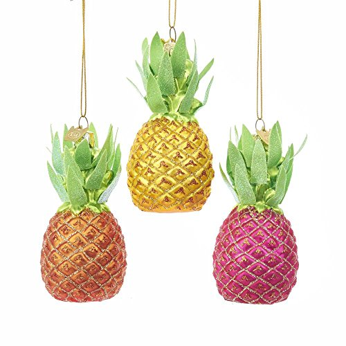 Kurt Adler 3.5″ Noble Gems Gls Pineapple Ornament 3A
