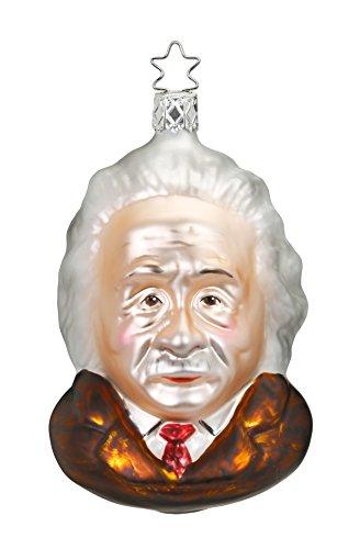 Inge-Glas Albert Einstein 1-072-17 German Glass Christmas Ornament