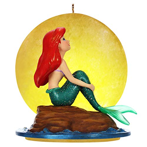 Hallmark Keepsake Christmas Ornament 2019 Year Dated Disney The Little Mermaid Musical with Light (Plays Part of Your World Song)