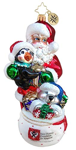 Christopher Radko Dave Thomas Celebrate Adoption Ornament, Multicolor