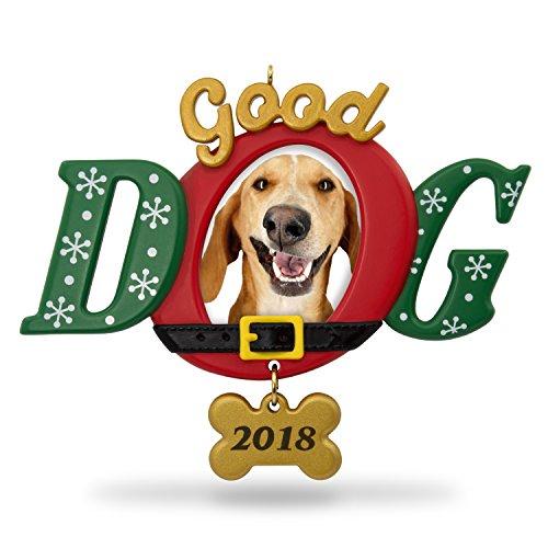 Hallmark Keepsake Christmas Ornament 2018 Year Dated, Good Dog Picture Frame, Photo Frame