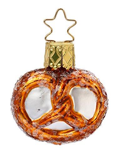 Inge-Glas Bavaria Mini Pretzel 1-049-17 German Glass Christmas Ornament