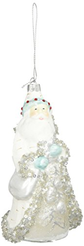 Department 56 Christmas World Frost Santa with Bag Ornament